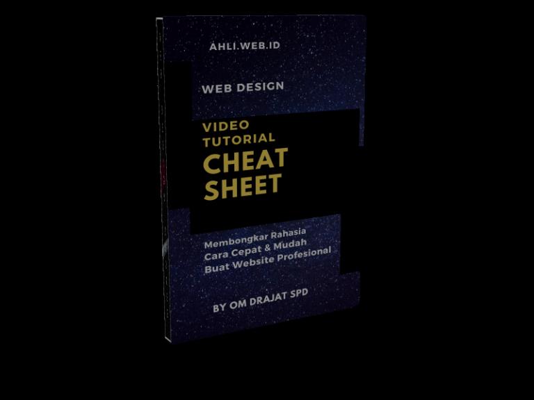 kursus-belajar-web-design-bonus-cheat-sheet-cover